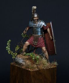 "Roman Legionary by Patrick ""Schlaubi"" Kaiser · Putty&Paint Ancient Rome, Ancient Greece, Rome History, Roman Warriors, Roman Legion, Warrior Tattoos, Roman Sculpture, Roman Soldiers, Military Diorama"