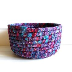 Fabric Coiled Basket Colorful Storage Basket Home