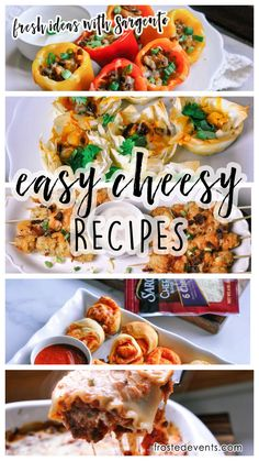 #ad #RealCheesePeople #IC  Cheesy Stuffed Peppers recipe, finger foods and appetizer ideas made with @sargentocheese  , fresh off the block