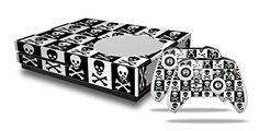Skull Checkerboard  Decal Style Skin Set fits XBOX One S Console and 2 Controllers XBOX SYSTEM SOLD SEPARATELY >>> Click image for more details.Note:It is affiliate link to Amazon.