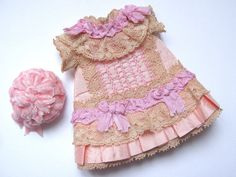 Tiny+Dress+and+hat+for+Antique+French+or+German+Doll+