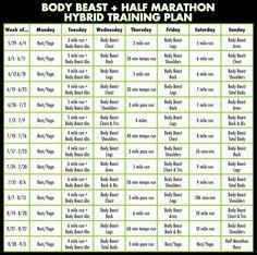 Body Beast + Half Marathon Hybrid Training Plan