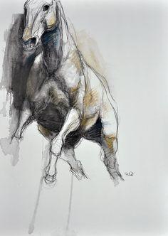 Art moderne Cheval Animal Oeuvre Originale Art par benedictegele