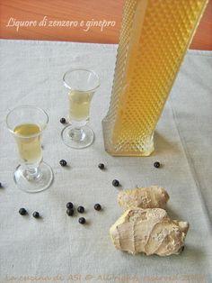LIQUORE ALLO ZENZERO E GINEPRO Liquore casalingo