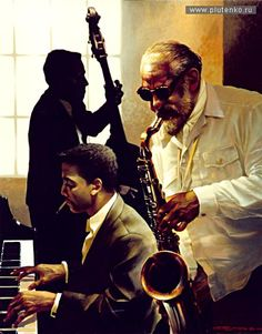 Stanislav Plutenko :: Photos :: 2002Croquis de jazz. № 3 100 x 80 cm