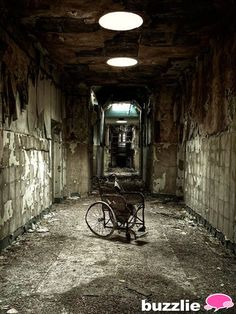 Asylum from the early 1900s. So creepy that these things are all over the US, just sitting abandoned.  (Where?!?  Can people buy them?)