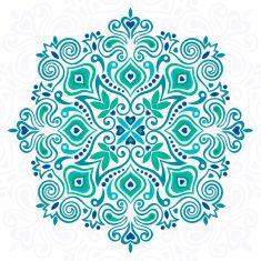 Flower Mandala. Abstract element for design vector art illustration
