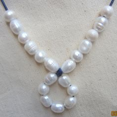 Genuine Freshwater Pearl and Leather by PearlnLeatherJewelry, $30.00