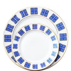 Greek Key Dinnerware