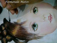 Pintura em tecido | passo a passo | cabelinho