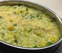 Lemon, Leek & Zucchini Risotto substitute dairy free parmesan