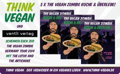 """Gewinnt drei Mal """"The Vegan Zombie: Koche &Überlebe!""""! Auf derfacebook-Seite von Think Vegankönnt ihr noch bis 22. September 2014 drei Exemplare..."""