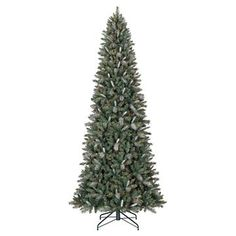 10.5ft Pre-Lit Artificial Christmas Tree Balsam Fir - Clear Lights