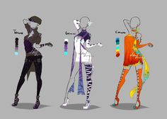 Outfit design - Zodiacs - 2 - closed by LotusLumino on DeviantArt