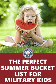 Love this summer bucket list for military kids!