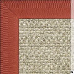 Sisal Basket Rug. Border: Cotton Herringbone / Ketchup Rug Store, Natural Rug, Rugs Online, Sisal, Ketchup, Rugs On Carpet, Herringbone, Basket, Colours