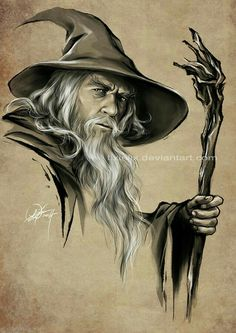 for and Ozcomics weekly draw-off Gandalf Hobbit Art, O Hobbit, Jrr Tolkien, Thranduil, Legolas, Fellowship Of The Ring, Lord Of The Rings, Mago Tattoo, Wizard Tattoo