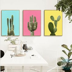 Green Plant Cactus Canvas Art Print Poster Still Life Cactus Wall Picture Canvas Painting Home Decor FG0031B #walldecor #interiordesigner #homedecor #wallartprints #artdecor #artprint #canvasphotoprints #wallartdecor #wallpainting