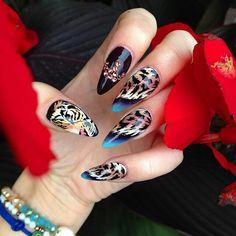 [New] The 10 Best Nail Ideas Today (with Pictures) - Roaring Nails Cheetah Nail Designs, Cheetah Nails, Polka Dot Nails, Diy Nail Designs, Fabulous Nails, Perfect Nails, Diy Nails, Swag Nails, Acrylic Nails Stiletto