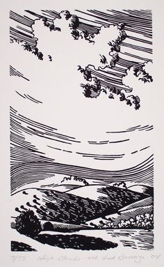 Fred Barraza, Multimedia Artist - Printmaking - Southwest New Mexico Ant Drawing, Cloud Drawing, Cloud Art, Ink Illustrations, Illustration Art, Linocut Prints, Art Prints, Block Prints, Ink Pen Art