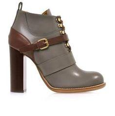 5f16c48b0775 Chloé Bernie bi-colour leather ankle boots on shopstyle.com Chloe Boots,  Shoe