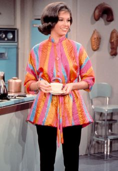 """""""I had Laura wear pants,"""" #MaryTylerMoore explained of her famous cigarette-style slacks, """"because I said, 'Women don't wear full-skirted dresses to vacuum in.'"""" http://www.instyle.com/instyle/package/general/photos/0,,20396039_20476958_20929173,00.html"""