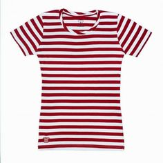 Red and White - StripedShirt for Women. $19.50