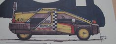 """""""Driver is monitored, No currency"""" - Blade Runner Taxi design by Syd Mead."""