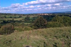 We're very lucky to live in such a beautiful location. This is the view from the top of our field