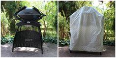 4 Freizeiten: Mein bisher größtes Nähwerk - eine Maßanfertigung von Zelt: Grillabdeckung / Grillhaube selbst nähen