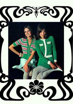 PDF Vintage 1960s Womens Ladies Dress & Jacket Knitting Knitting Patterns, Crochet Patterns, Hippie Chick, Scooter Girl, Green Goddess, Skater Girls, Vintage Knitting, Striped Knit, Jacket Dress