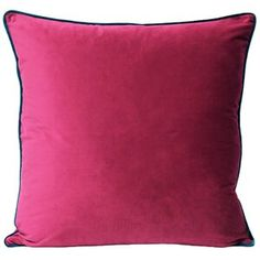 Persora - Raspberry And Teal Velvet Cushions - Pink/Teal Teal Cushions, Plain Cushions, Velvet Cushions, Scatter Cushions, Cushion Pads, Cushion Covers, Pillow Covers, Teal Blue, Pink