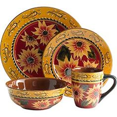 Need new dishes and love sunflowers!