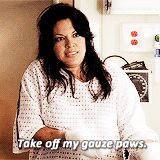 """Callie Torres - I want to wrap my hands in gauze just so I can say """"take off my gauze paws"""" Favorite line ever, so cute. Grey's Anatomy Tv Show, Grays Anatomy Tv, Calliope Torres, Meaningful Quotes About Life, Drama Tv Shows, First Boyfriend, Dark And Twisty, Medical Drama, Funny Scenes"""