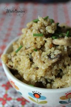 Quinoa crémeux aux champignons Miss Angèle completely fell for this recipe, I have already redone it Food Porn, Vegetarian Recipes, Healthy Recipes, Easy Recipes, Vegetarian Cookbook, 21 Day Fix, Stop Eating, Clean Eating Snacks, Superfood