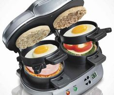 Now you are not too lazy to wake up early in the morning and you are not going to be so tired to prepare the most delicious breakfast. Rather you will wake up with a smiley face and intend yourself to impress your family members on the breakfast table. Because this revolutionary sandwich maker will be your secret trick to prepare the most delicious breakfast sandwiches in just five minutes.Price 39$