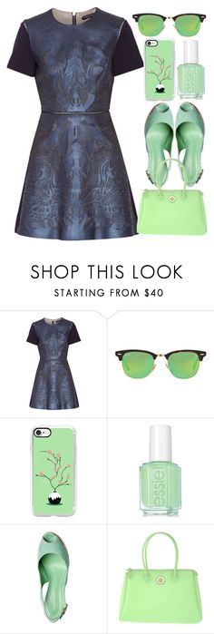 """Color Contrast"" by egordon2 ❤ liked on Polyvore featuring Catherine Deane, Ray-Ban, Casetify, Essie and PIERO GUIDI"