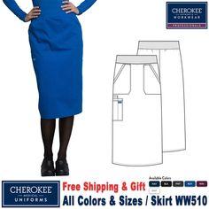 Medical Uniforms, Nursing Uniforms, Scrub Skirts, Fashion Dresses, Modest Fashion, Skirt Fashion, Stylish Scrubs, Cherokee Scrubs, Professional Women