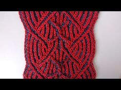 Center cable two-color brioche stitch pattern + free embedded chart - YouTube