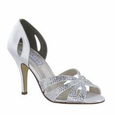 c939a7b746f Poise Dyeable White Black Silver Gold Satin Prom Bridal Wedding High Heel  Shoes Dyeable Wedding Shoes