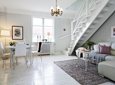Black and White Duplex Apartment Interior That Features a Really Beautiful Staircase   DigsDigs