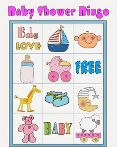 Bingo para Baby Shower para Imprimir Gratis. Bingo Baby Shower, Frozen Baby Shower, Baby Shower Printables, Shower Party, Free Printables, Diy Baby Shower Decorations, Baby Shawer, Baby Love, Frozen Bebe