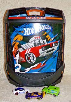 Hot Wheels 100 Car Storage Rolling Black Carry Case with Telescoping Handle #TaraToys #NA #StorageCase