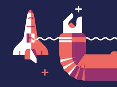 Stars and space shuttle and arm by Timo Meyer
