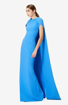 Long Dresses – Page 11 – Safiyaa Tailored Fashion, High Fashion, Women's Fashion, Boat Neck Dress, Cape Dress, Sharp Dressed Man, Fashion Plates, Fashion Branding, Colorful Fashion