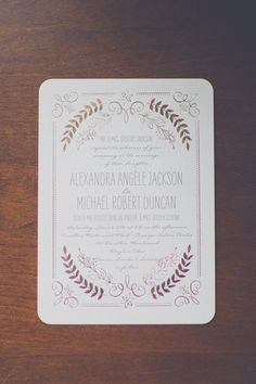Vintage Wedding Invitations With Gold Foil