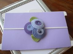 Wool felt flower headbands
