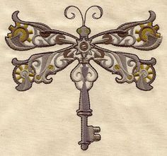 Embroidery Designs at Urban Threads - Steampunk Dragonfly