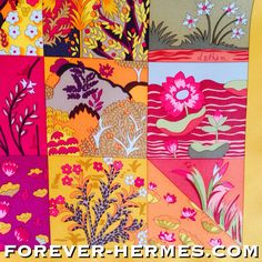quilting masterpiece by Hermes Paris in our store http://forever-hermes.com #ForeverHermes titled Tout En Quilt designed by Cathy Latham featuring a discrete huge H letter like #quilted out of stunning materials with #flowers #trees #gardens #landscape motifs, a true delicate work of art for the #dapper #gentleman #necktie #mensfashion #MensWear #MensSuit #menstyle #womenswear #womensfashion #WallDecor #HermesParis #hermeslover #horse #quilt #quilting #Hermes #HorseRider