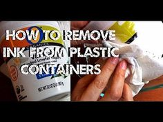 DIY Solutions ♥ How to Remove Ink From Plastic Containers - YouTube